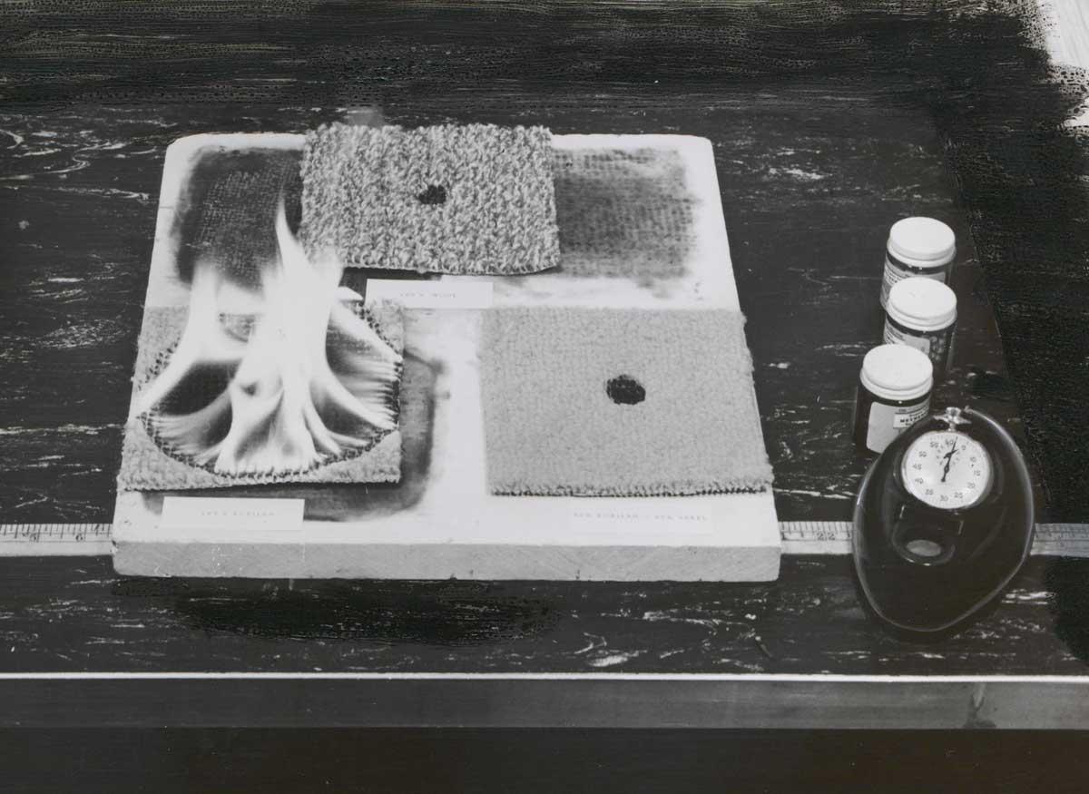 Carpet flammability, 1960