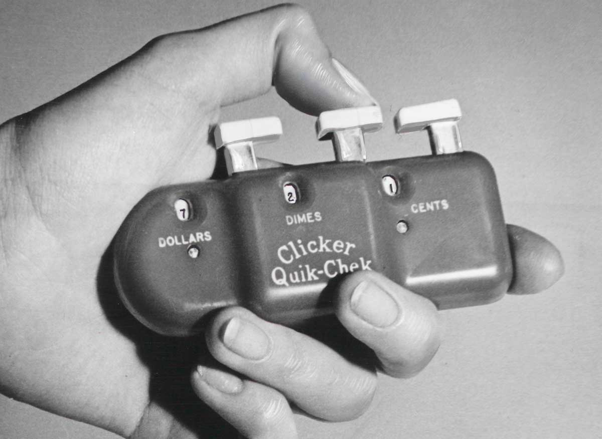 Pocket totalizer, 1960