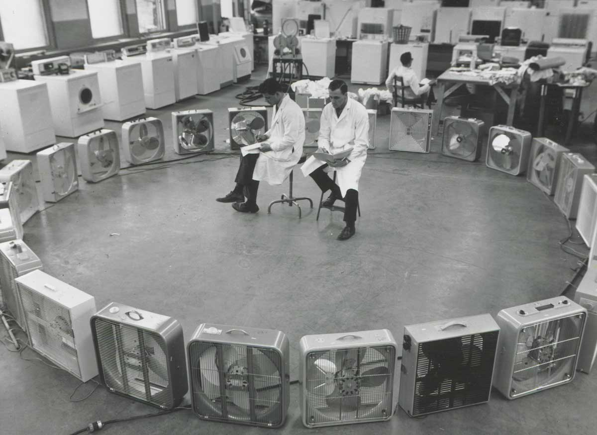 Portable electric fans, 1962