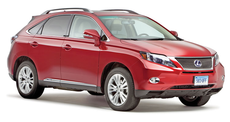 A photo of the Lexus RX, a model considered by Consumer Reports experts to be one of the best used cars available.