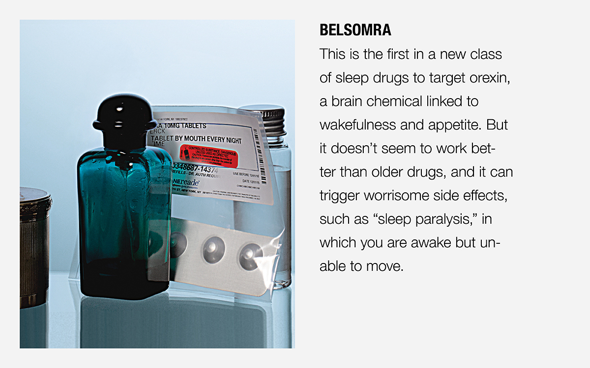 Showing a pill bottle of Belsomra