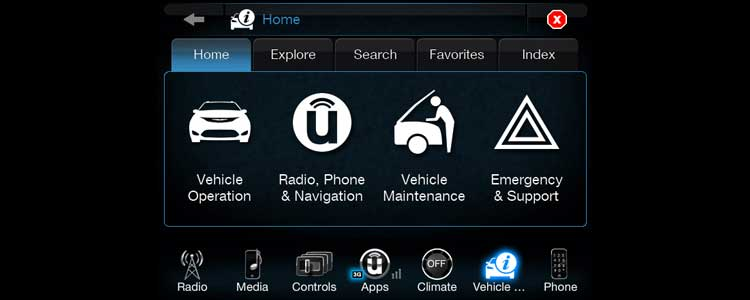 Fiat-Chrysler Uconnect 8.4 infotainment system