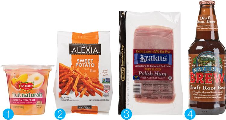 Natural food? Del Monte Fruit Naturals, Alexia Sweet Potato Fries, Krakus Polish Sliced Ham and Natural Brew Draft Root Beer