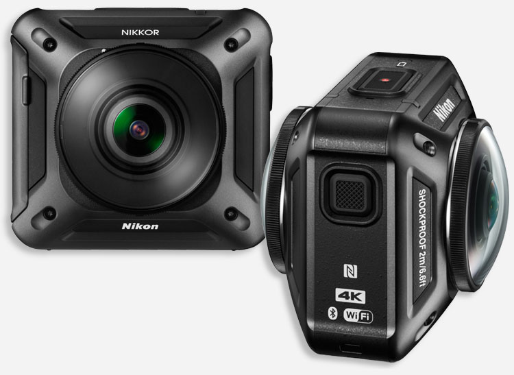 This is an image of a 360-degree action cam