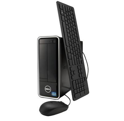 Photo of a compact desktop computer.