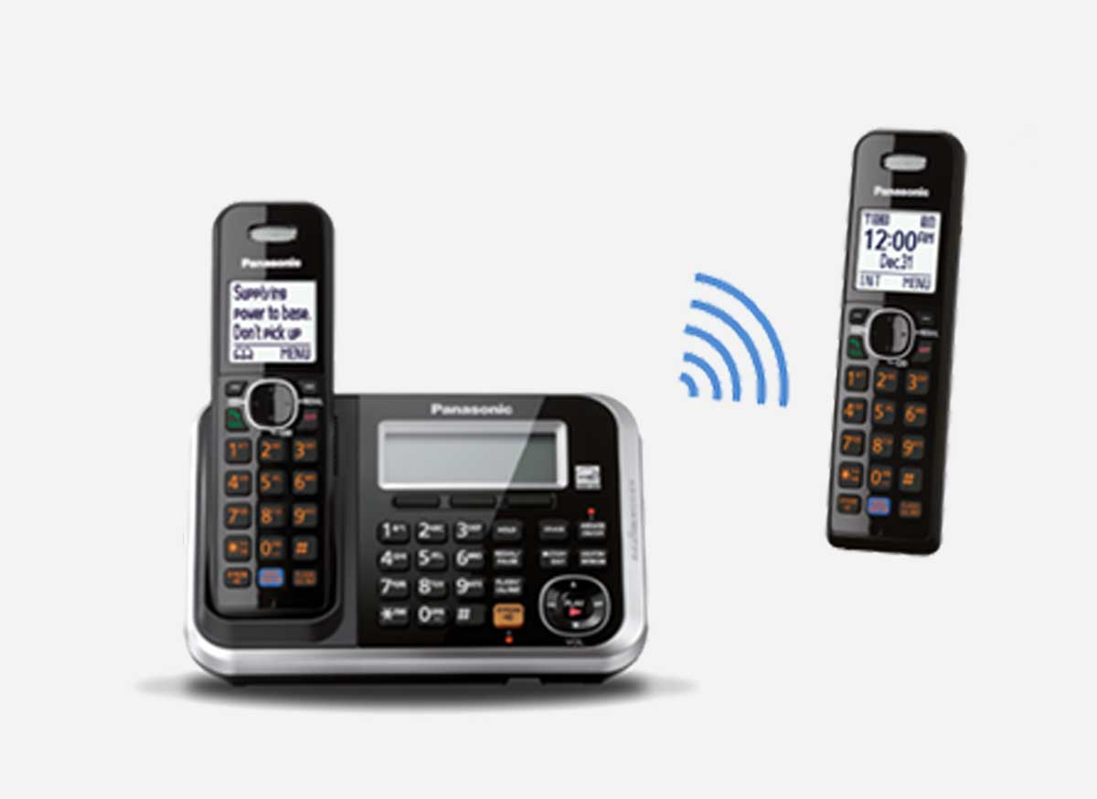 Photo of a cordless phone that has battery backup.