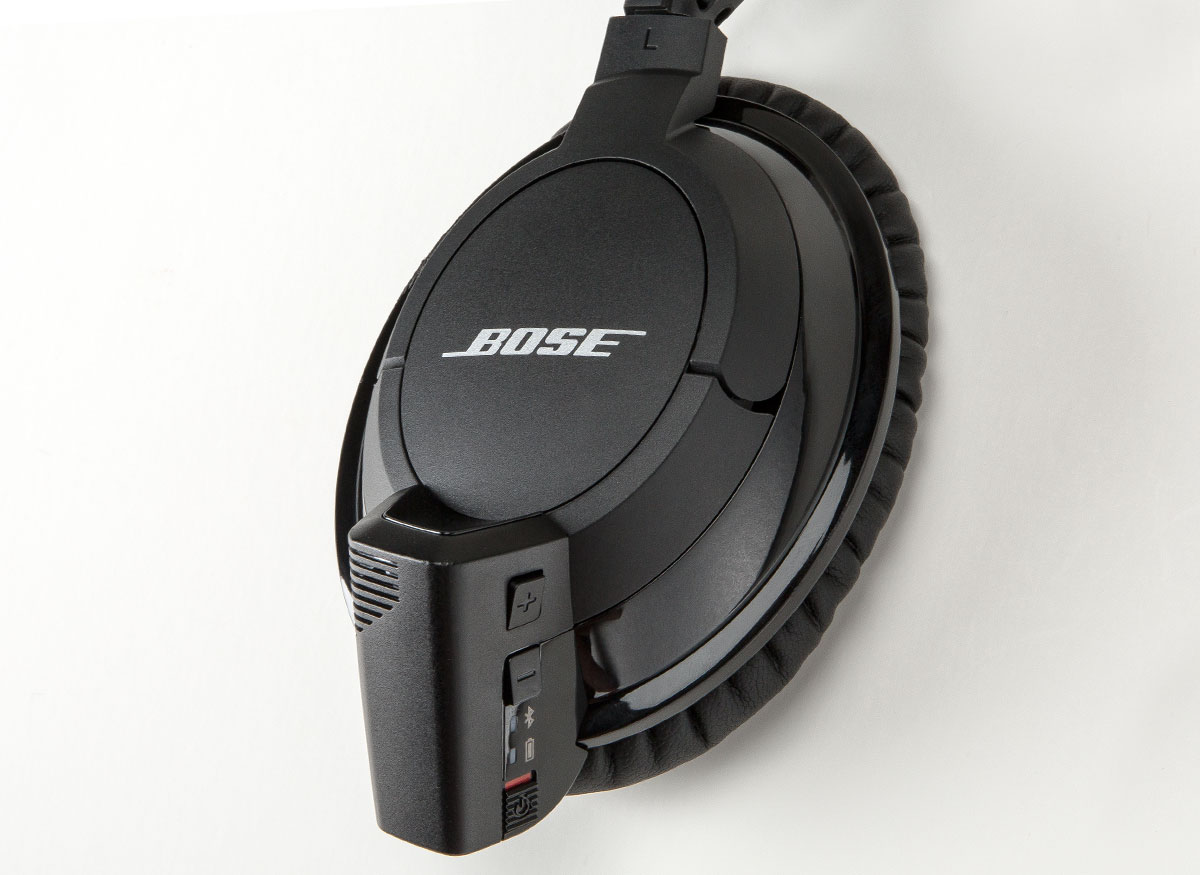 Photo of a Bose headphone battery.