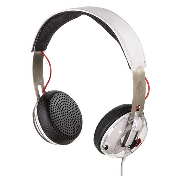 A pair of on-ear headphones.