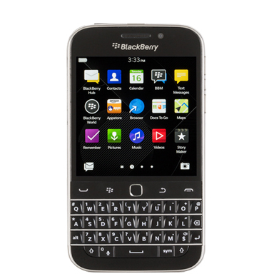 Picture of a BlackBerry Phone.