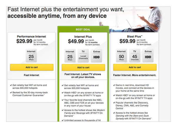 Internet Bundles: Comcast Internet & Phone Bundle