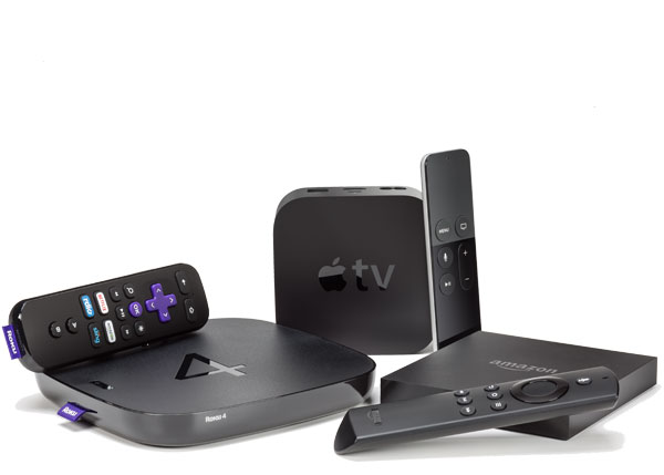 Picture of various steaming media players.