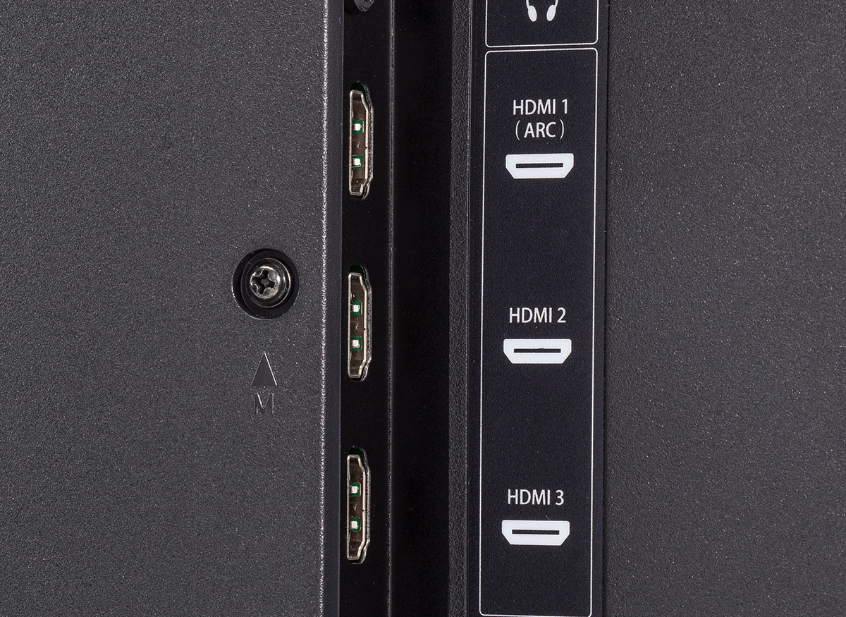 Photo of a TV's HDMI inputs.