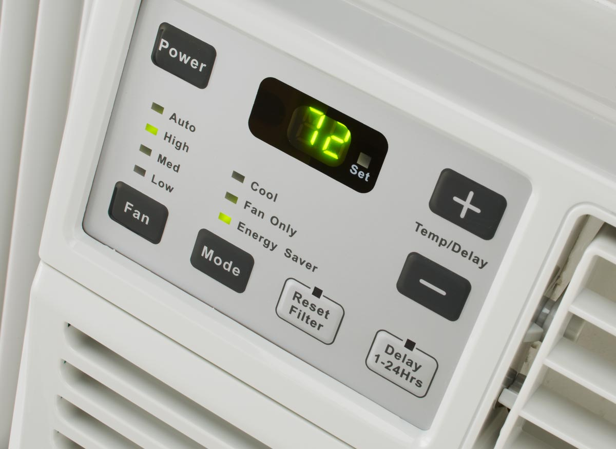 Photo of air conditioner controls.