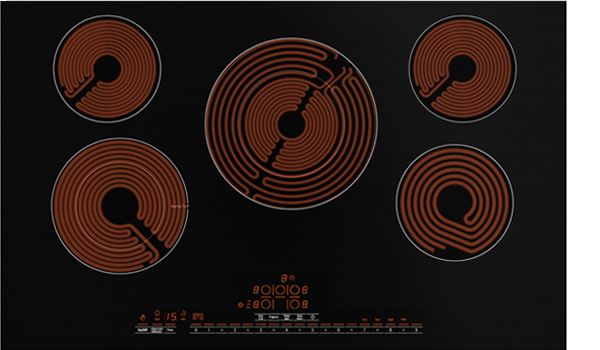 Image of a smooth electric cooktop.