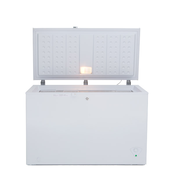Photo of a chest freezer.