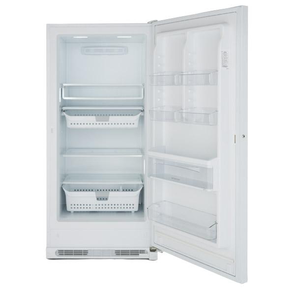 Photo of an upright freezer.