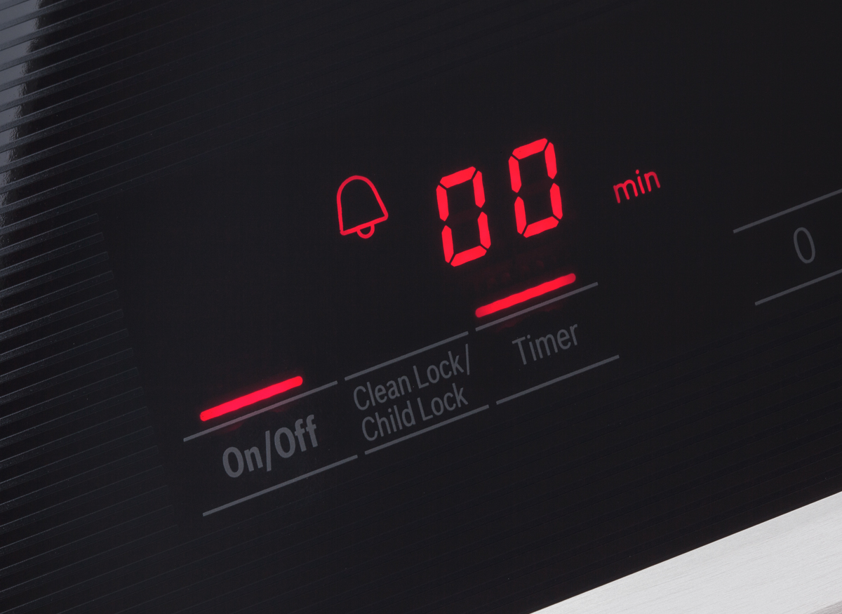 Photo of a control lockout setting on a kitchen range.