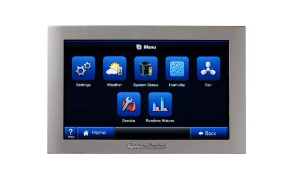 Photo of a thermostat with remote access capability.