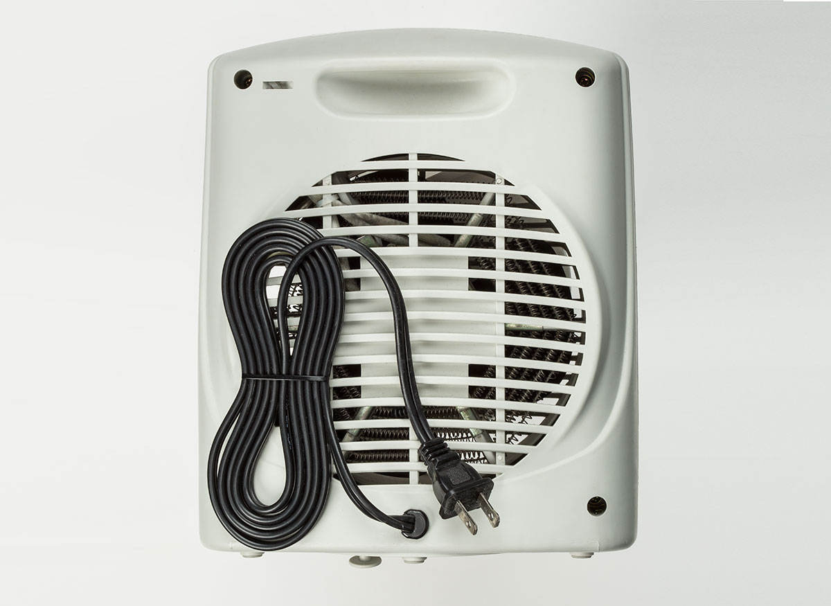 A space heater power cord.