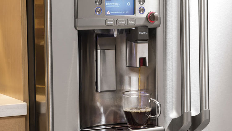 GE CYE22USHSS refrigerator with Keurig coffee maker is one of the innovative home products of 2015.