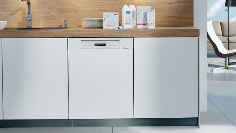 The Miele Futura Lumen G6595SCViK2O dishwasher.