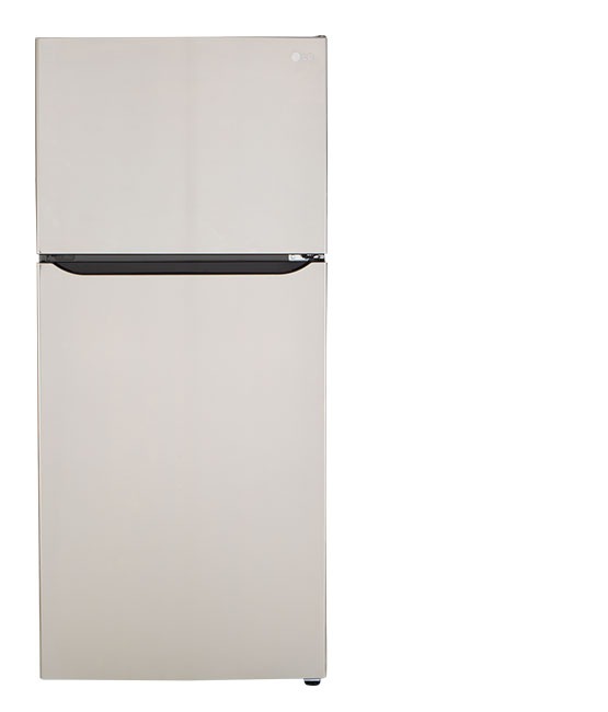 A top-freezer refrigerator.