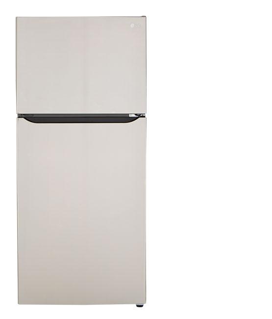 A top-freezer refrigerator.