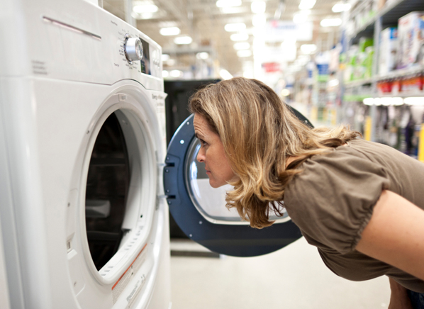 how to move a washing machine into a tight space