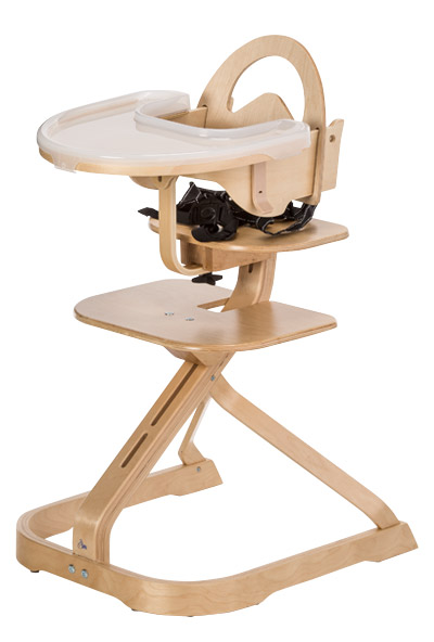 Photo of a grow-with-me style high chair.