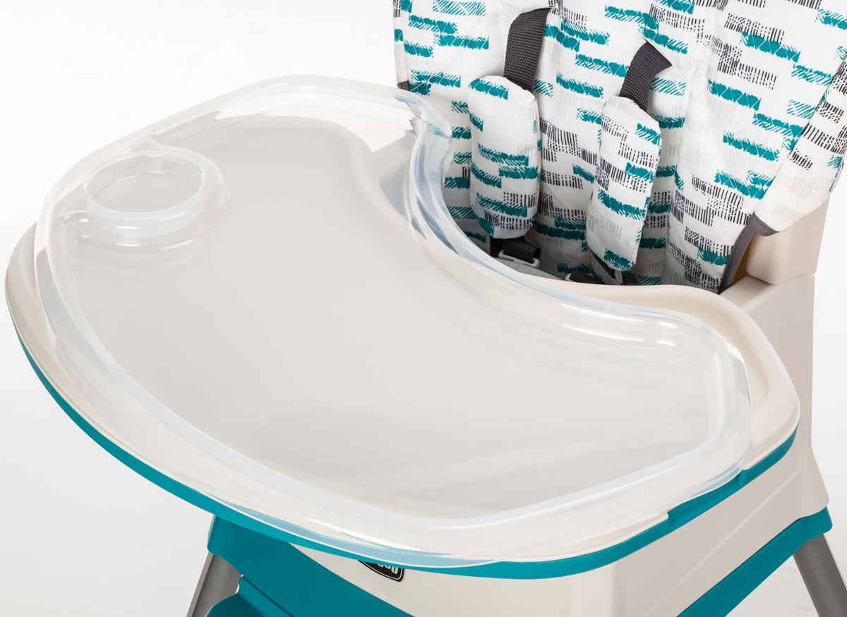 Photo of a clean high chair tray.