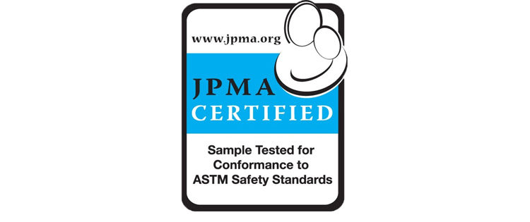 The JPMA certification sticker.