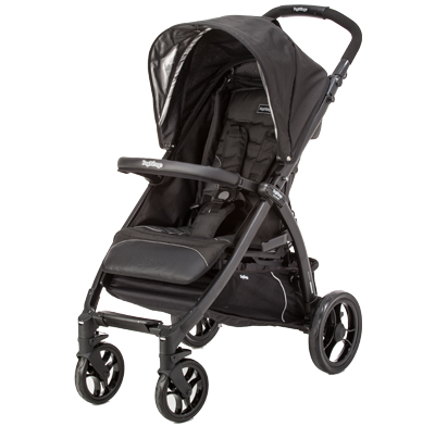 Photo of a single traditional stroller.
