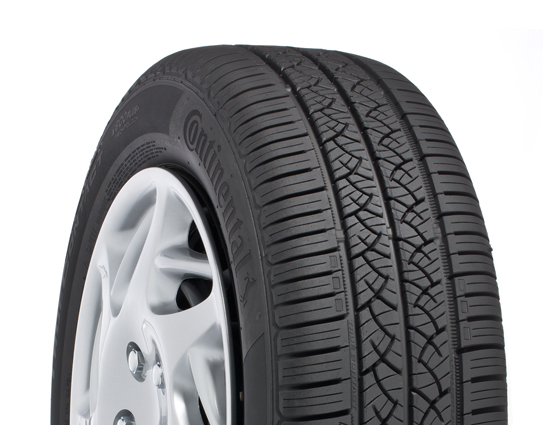 A performance all-season car tire.