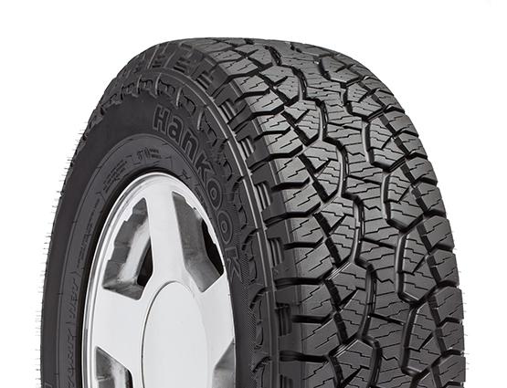 An all-terrain truck tire.