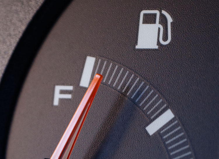For safe winter driving, make sure you maintain a full tank of gas