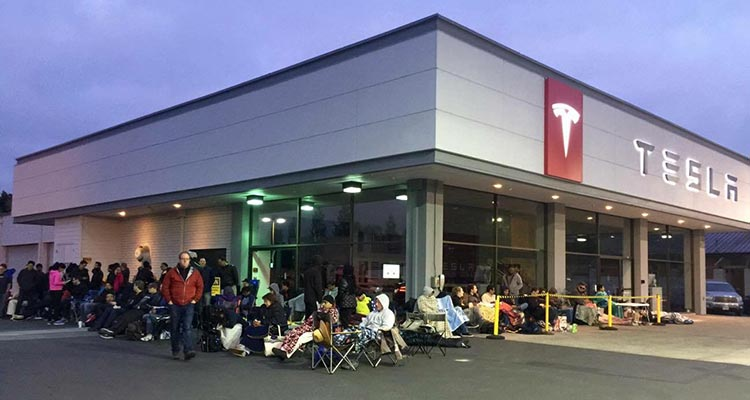 Tesla Line For Model 3