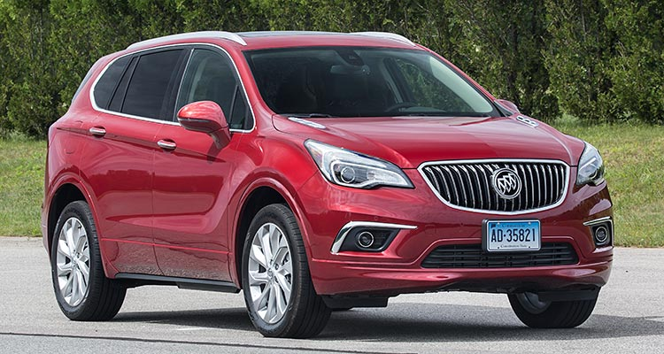 new 2016 buick envision suv proves disappointing consumer reports. Black Bedroom Furniture Sets. Home Design Ideas