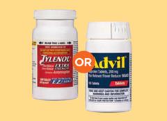 Acetaminophen vs ibuprofen organ damage adults