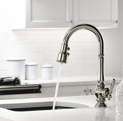 Photo of a bar faucet.