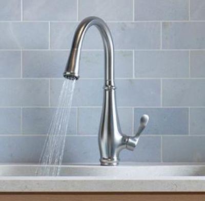 Photo of a single-handle faucet.