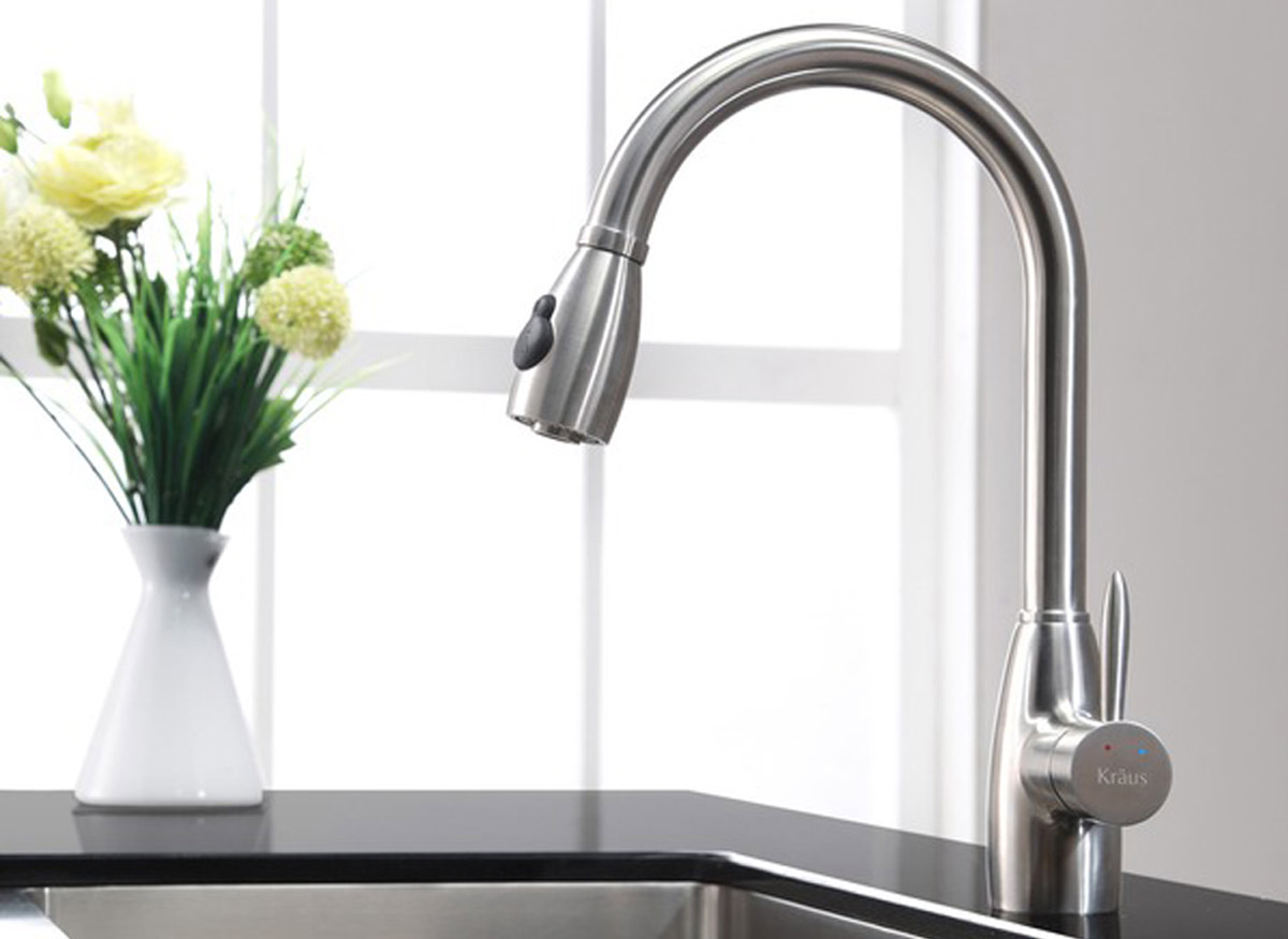 Spray And Stream Kitchen Faucet