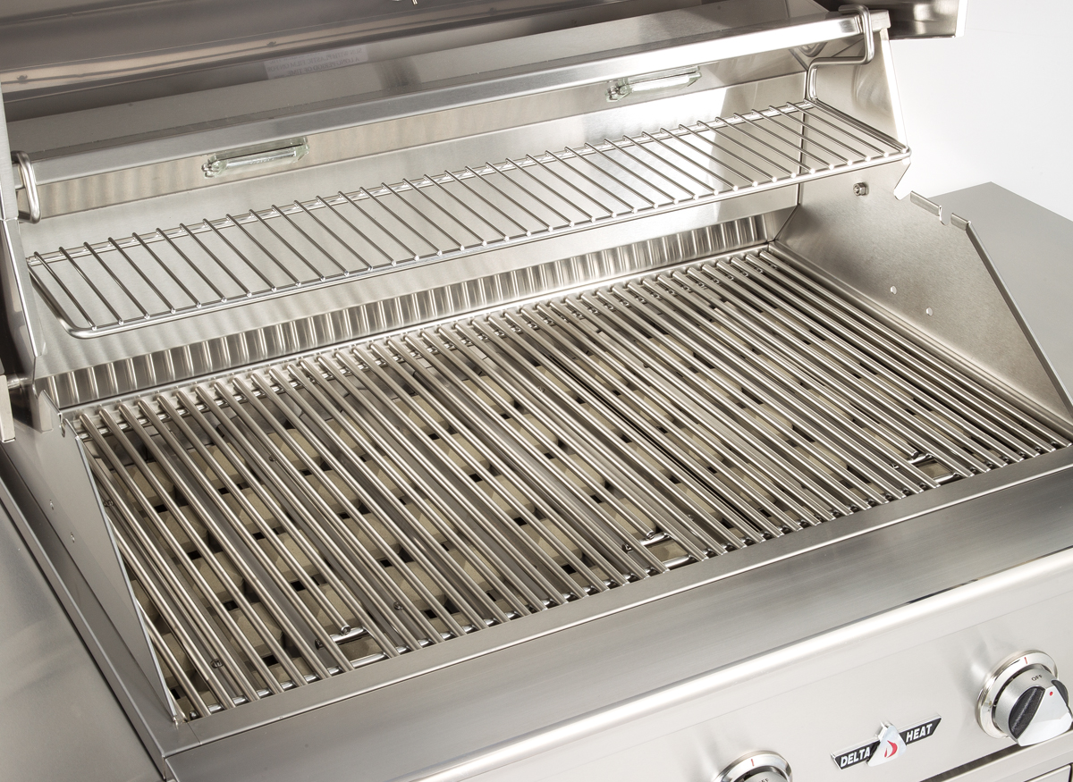 Picture of heavy-duty gas grill grates.