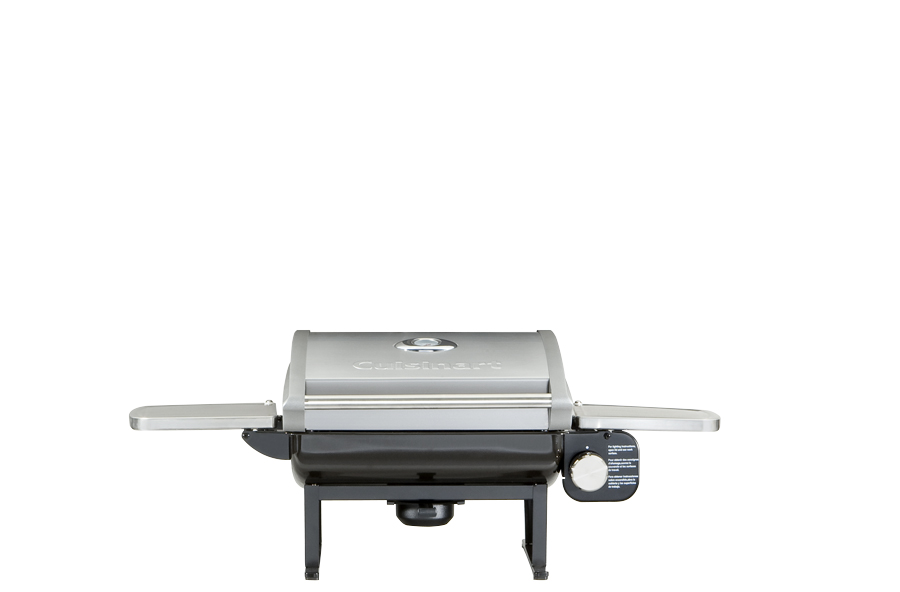 Picture of a portable gas grill.