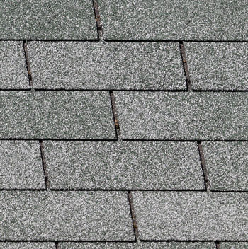 Photo of asphalt roofing shingles.