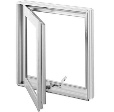 Photo of a casement-style window.