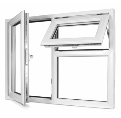 Photo of a casement-style window and an awning-style window.