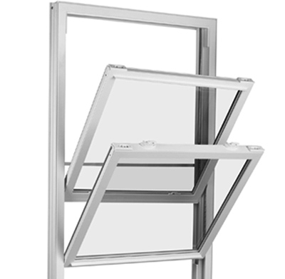 Photo of a double-hung window.