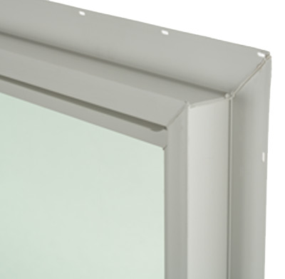 Photo of a vinyl window frame.