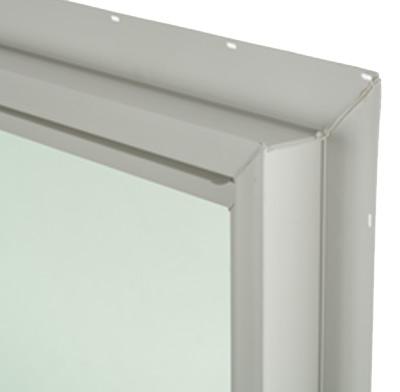 Photo of a vinyl window frame.