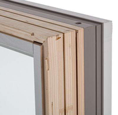 Photo of a wood window frame.